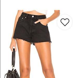 Levi Strauss black denim shorts